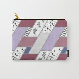 Abstract hand drawn geometric pattern with glitter pink and blue Carry-All Pouch