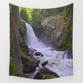 Summer Snow Melt - Waterfall & Forest Wall Tapestry