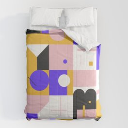Abstract Geometric Composition 096 Comforters