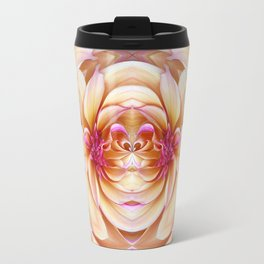 335 - Abstract Flower Orb Design Travel Mug