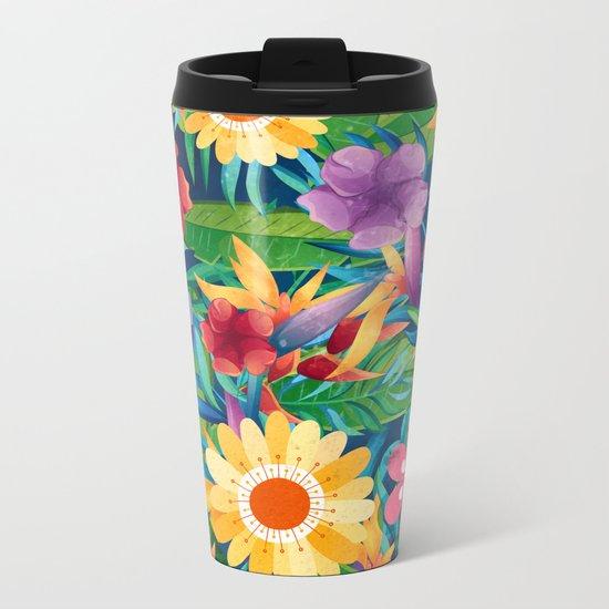 Summer Floral Dreams Metal Travel Mug