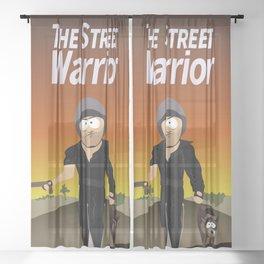The Street Warrior Sheer Curtain