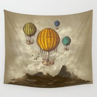voyage Wall Tapestries featuring The Voyage by Viviana Gonzalez