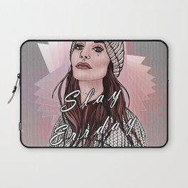 Slay Errday Tuff Girl Illustration Laptop Sleeve