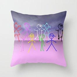 stick figures -2- Throw Pillow