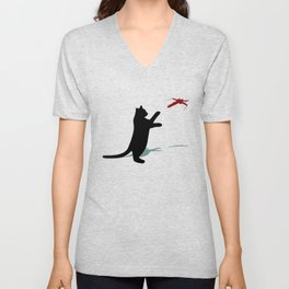 Cat and X-Wing Unisex V-Neck