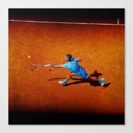 Rafael Nadal Tennis Forehand Return Canvas Print