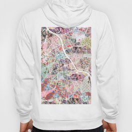 Warsaw map Hoody