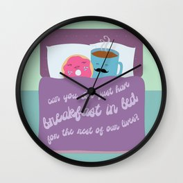 Let's Have Breakfast Wall Clock