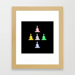 Five Buddhas Framed Art Print