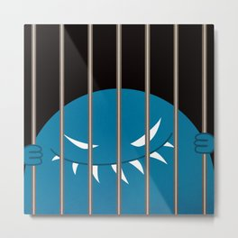 Evil Monster Kingpin Jailed v2 Metal Print