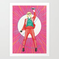 karen hallion Art Prints featuring Karen O by felixdrewthis