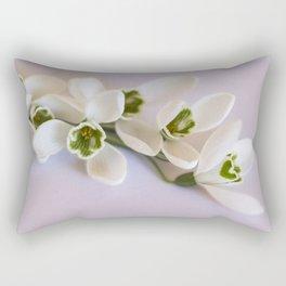 Snowdrops - First Spring Flowers Rectangular Pillow