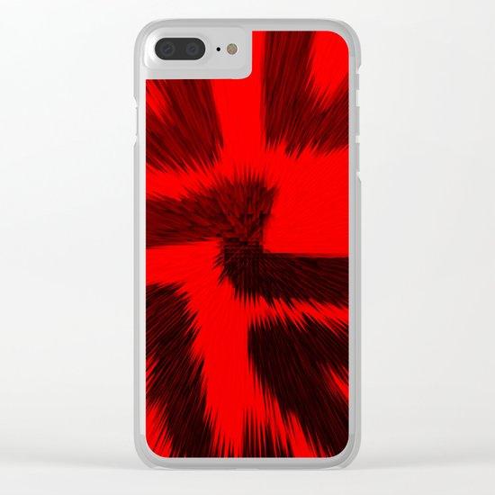 Silent Scream Clear iPhone Case