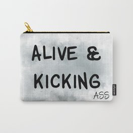 Alive and Kicking (achro) Carry-All Pouch