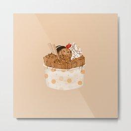 Rolled Ice Cream Metal Print