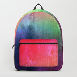 Visitor - colorful distressed abstract Backpack