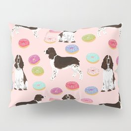 English Springer Spaniel donuts funny dog gifts perfect for spaniel owner pet portraits Pillow Sham