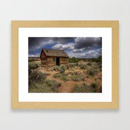 Morrell Line Cabin- Capitol Reef National Park, Utah Framed Art Print