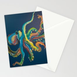 Colorful Octopus Stationery Cards