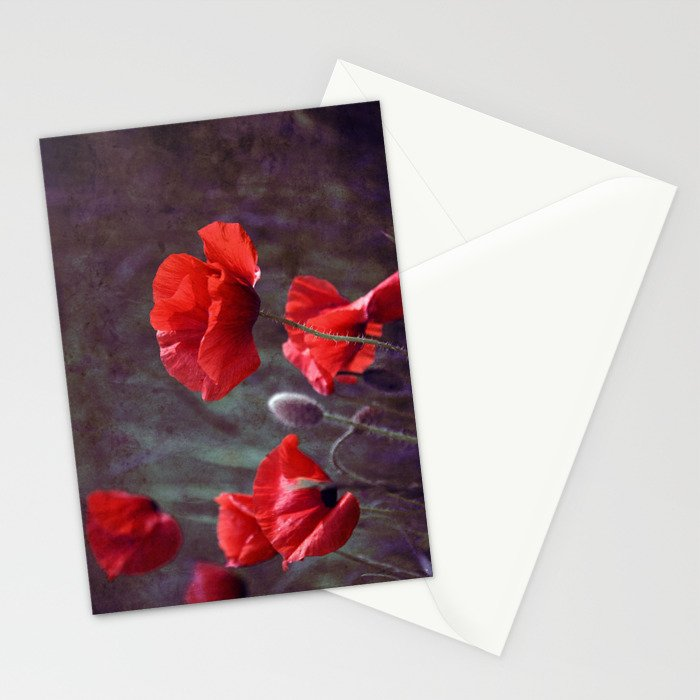 red poppyfield  Stationery Cards