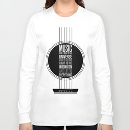 Lab No. 4 - Plato philosopher Inspirational Music Quotes  poster Long Sleeve T-shirt