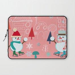 winter fun pink Laptop Sleeve