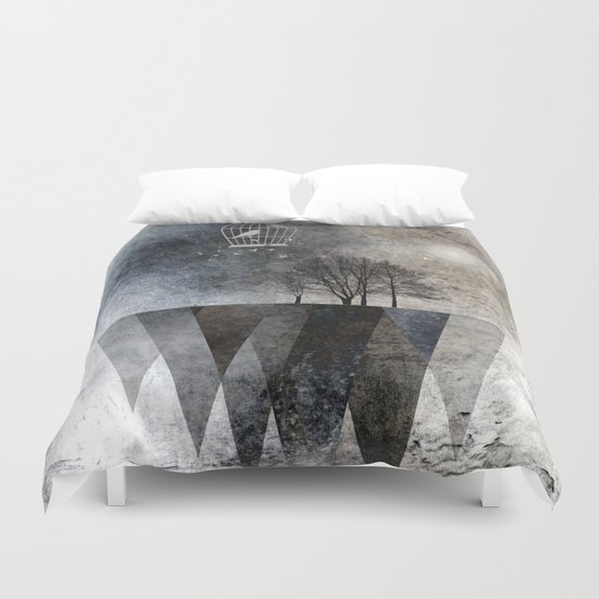 TREES over MAGIC MOUNTAINS I Duvet Cover