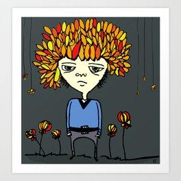 i belong with flowers Art Print
