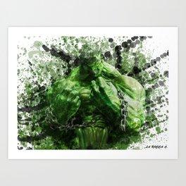 Green Hero Art Print