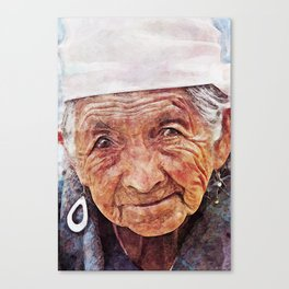 'Old Woman' Canvas Print