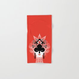 The Queen of clubs Hand & Bath Towel