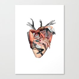 Heart shaped fist Canvas Print