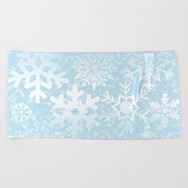 Snowflakes Beach Towel