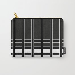 Modern Minimalist Black and White Stripes Carry-All Pouch