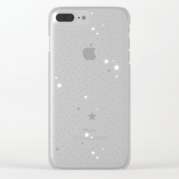 Starry Night Sky Clear iPhone Case