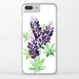 Lupine Wildflowers Clear iPhone Case