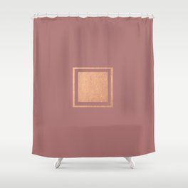 RoseGold: Minimalist + Pink Shower Curtain