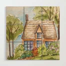 Come For Tea Wood Wall Art