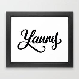 Laurel or Yanny? Framed Art Print