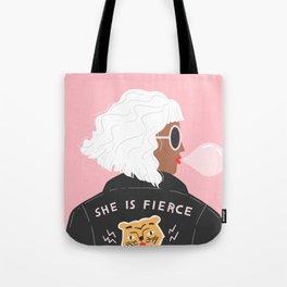 She is Fierce Pink Tote Bag