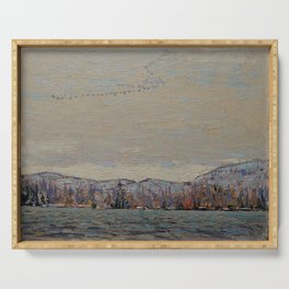 Tom Thomson - Wild Geese - Canada, Canadian Oil Painting - Group of Seven Serving Tray
