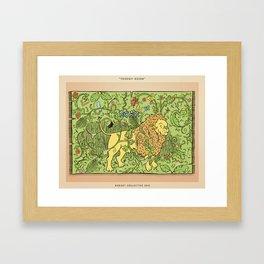 Lion Tapestry Framed Art Print