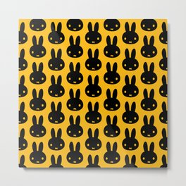 bunnies everywhere ultra pattern Metal Print