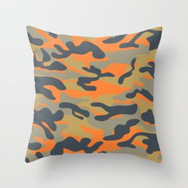 Military camouflage pattern 16 Throw Pillow