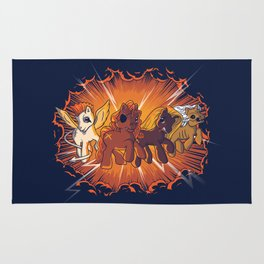 Four Little Ponies of the Apocalypse Rug
