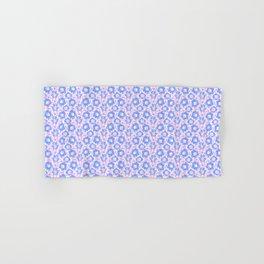 Pretty Spring Flowers , Pink & Lavender Blooms in a Jewel Tones Garden Pattern llustration Hand & Bath Towel