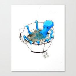 Octopus Tea Canvas Print