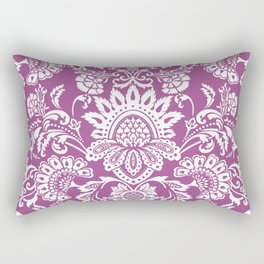 Damask in cyclamen Rectangular Pillow