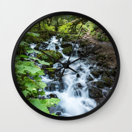 Wahkeena Creek Cascades Wall Clock